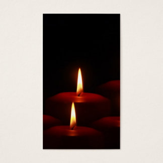 Christmas Holiday Advent Candle Flames Business Card