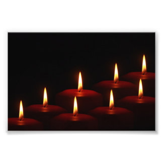 Christmas Holiday Advent Candle Flames Photograph