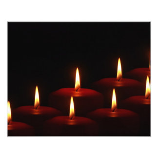 Christmas Holiday Advent Candle Flames Photographic Print