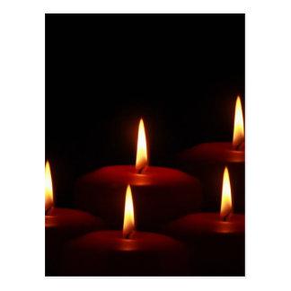 Christmas Holiday Advent Candle Flames Postcard