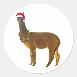 Christmas Holiday Alpaca Stickers