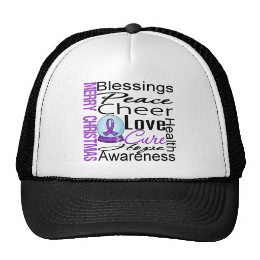 Christmas Holiday Alzheimer's Disease Collage Hats
