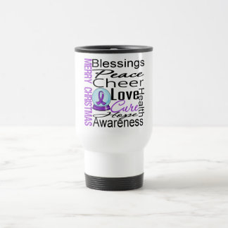 Christmas Holiday Alzheimer's Disease Collage 15 Oz Stainless Steel Travel Mug