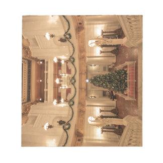 Christmas Holiday at Pennsylvania State Capitol Note Pad
