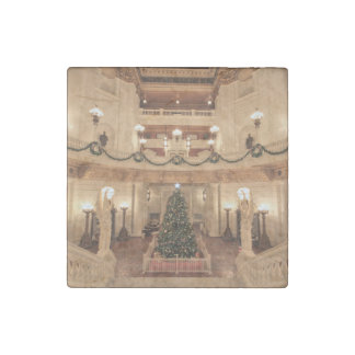 Christmas Holiday at Pennsylvania State Capitol Stone Magnet