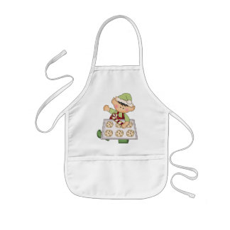 Christmas Holiday Baking Elf kids apron