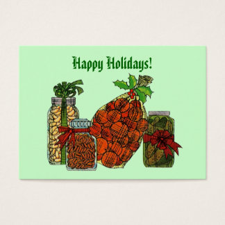 CHRISTMAS HOLIDAY BASKET GIFT TAG CARDS HOME GROWN