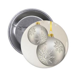 Christmas Holiday Beautiful Snow Silver Ornaments Pins
