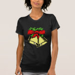 Christmas Holiday Bells With Holly Tshirt