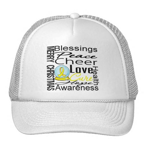 Christmas Holiday Bladder Cancer Collage Hat
