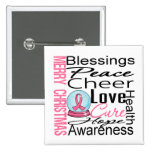 Christmas Holiday Breast Cancer Collage Buttons