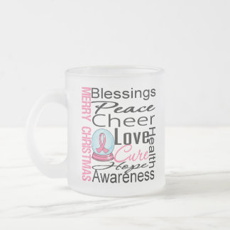 Christmas Holiday Breast Cancer Collage Mugs
