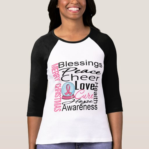 Christmas Holiday Breast Cancer Collage Shirt
