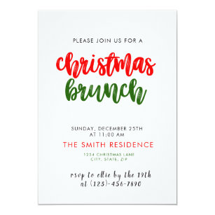 christmas brunch invitations zazzle