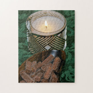 Christmas Holiday Candle and Chocolate Candies Jigsaw Puzzle