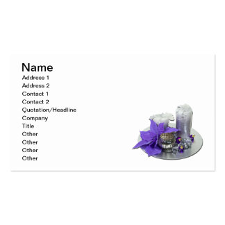 Christmas Holiday Candles Business Cards