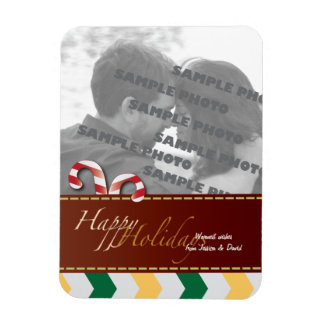 Christmas Holiday Candy Canes 2 Photo Magnet