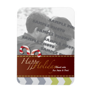 Christmas Holiday Candy Canes 3 Photo Magnet