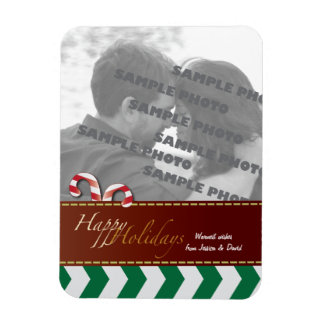 Christmas Holiday Candy Canes  Photo Magnet