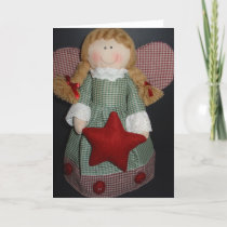 Christmas Holiday Card - Angel Decoration