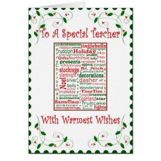 Christmas Holiday Card for Teacher