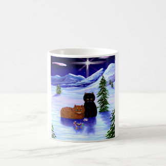 Christmas Holiday Cat Mouse Christian Religious Coffee Mug