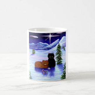 Christmas Holiday Cat Mouse Christian Religious Coffee Mug