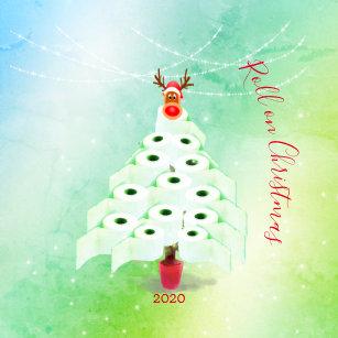 Christmas Holiday Corona Toilet Tree Lights Green Ceramic Ornament Zazzle Com
