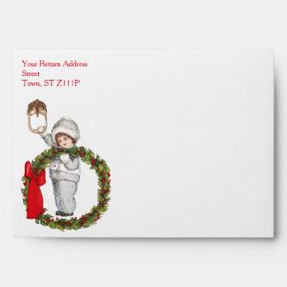 Christmas Holiday Custom Envelopes, Happy Holidays Envelope