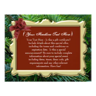 Christmas Holiday Custom Gift Certificate Letterhead