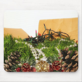 Christmas Holiday Decorations in Box Mouse Pads