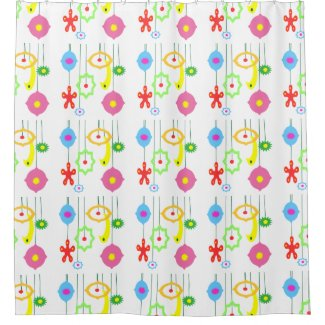 Christmas Holiday Decorations Shower Curtain