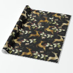 "Christmas Holiday - Deer & Mistletoe Wrapping Paper<br><div class=""desc"">Christmas Holiday - Deer & Mistletoe with a touch of Shimmer Wrapping Paper - choose your size and finish</div>"