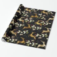 Christmas Holiday - Deer & Mistletoe Wrapping Paper