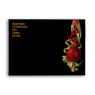 Christmas holiday elegant decorations red gold envelope