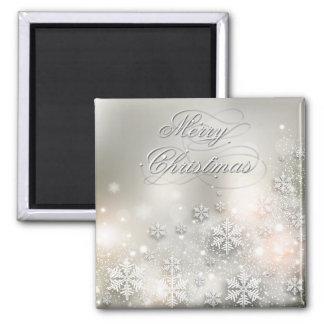 Christmas Holiday Elegant Snowflake Magnet