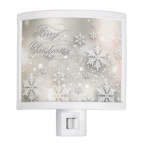 Christmas Holiday Elegant Snowflake Night Light
