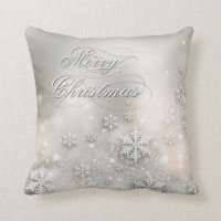 Christmas Holiday Elegant Snowflake Pillow