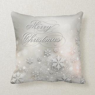 Christmas Holiday Elegant Snowflake Pillow
