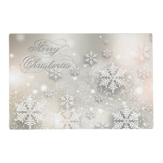 Christmas Holiday Elegant Snowflake Placemat