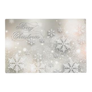 Christmas Holiday Elegant Snowflake Placemat
