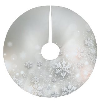 Christmas Holiday Elegant Snowflake Tree Skirt