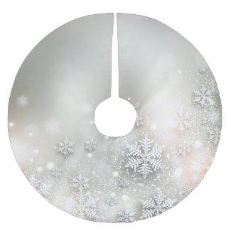 Christmas Holiday Elegant Snowflake Tree Skirt