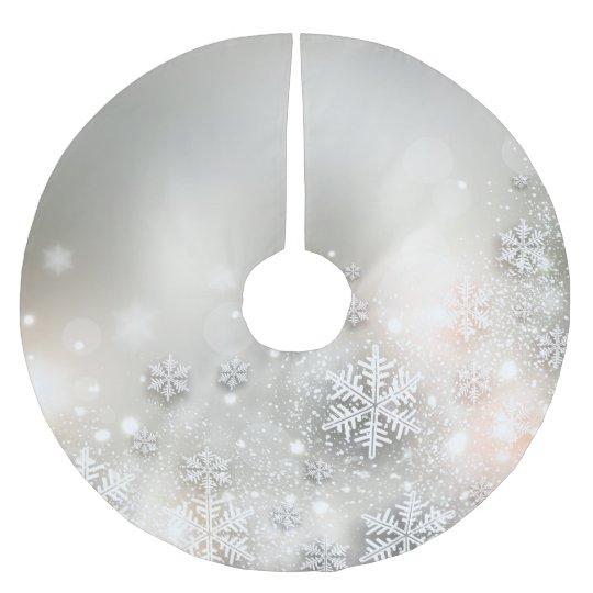 Elegant Christmas Tree Skirts.Christmas Holiday Elegant Snowflake Tree Skirt