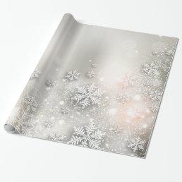 Christmas Holiday Elegant Snowflake Wrapping Paper