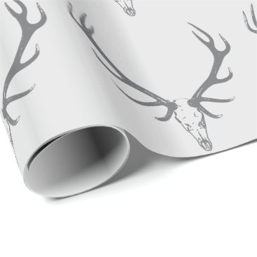 Christmas Themed Christmas Holiday Elk Custom Monogram Wrapping Paper