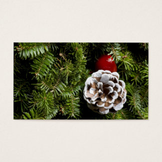 Christmas Holiday Evergreen Decoration Background Business Card