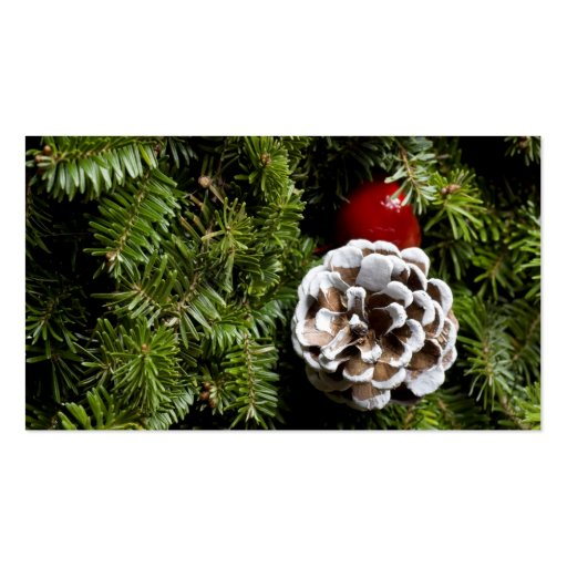 Christmas Holiday Evergreen Decoration Background Business Card Template