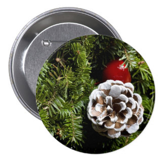 Christmas Holiday Evergreen Decoration Background Button