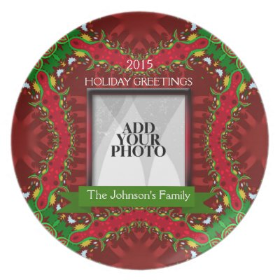 Christmas Holiday Family Keepsake Photo Plate plate